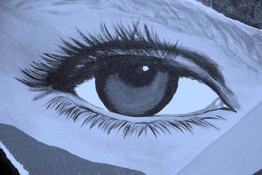 Eye Has It In Cyan Photograph