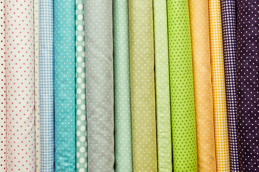 Background Photograph - Fabric Colours by Tom Gowanlock