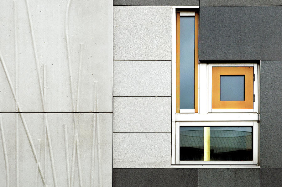 Edinburgh Photograph - Facade Geometry by Linda Wride