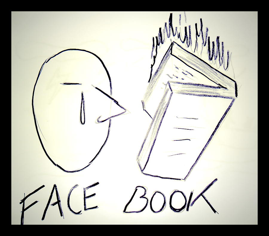 Drawing Drawing - Facebook by Beto Machado