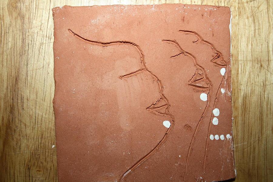 Jesus Ceramic Art - Faces - Tile by Gloria Ssali