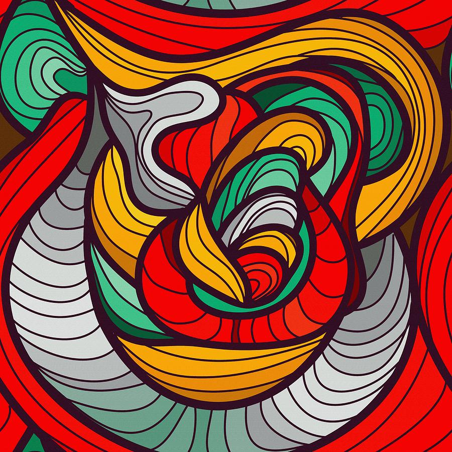 Print Digital Art - Faces by Don Kuing