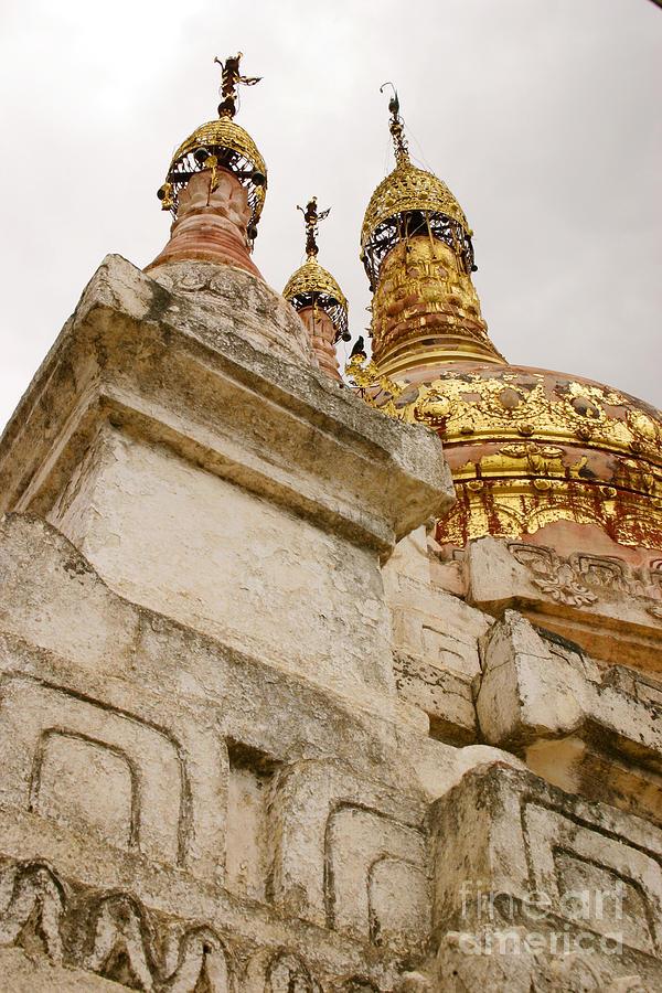 Fading Stupa Gilding of Small Monastery Near West Pwazaw Village Bagan Burma by PIXELS  XPOSED Ralph A Ledergerber Photography