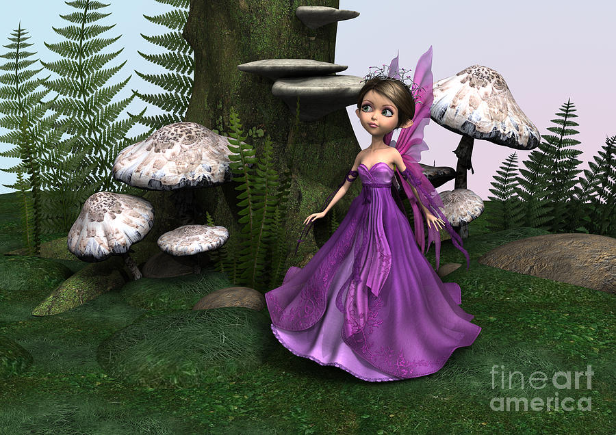Fairy Digital Art - Fairy In Woodland by Design Windmill