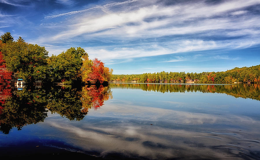 Nature Photograph - Fall Reflections by Tricia Marchlik