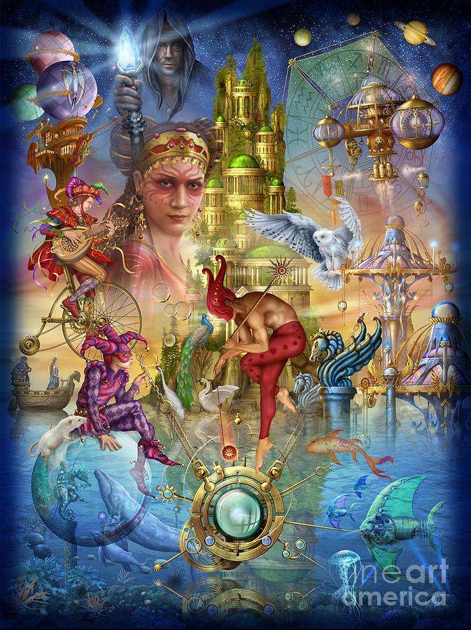 Ciro Marchetti Digital Art - Fantasy Island by Ciro Marchetti