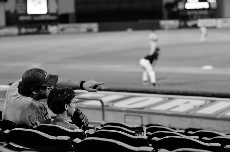 Baseball Photograph - Father To Son by Laura Fasulo