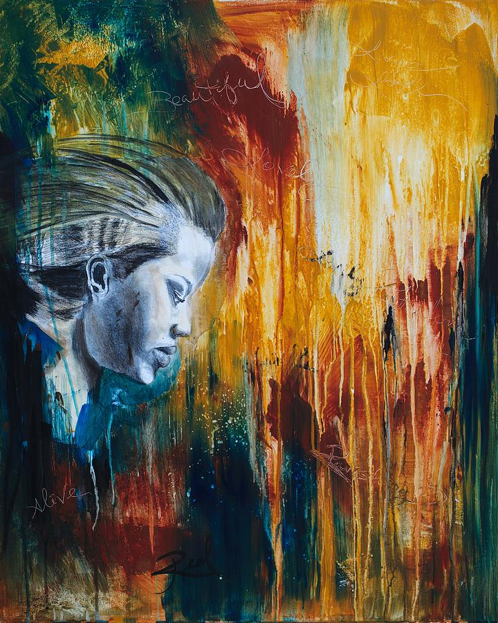 Woman Painting - Fearless Woman by Amani Hanson