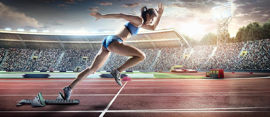 Female Athlete Sprinting Photograph by Dmytro Aksonov