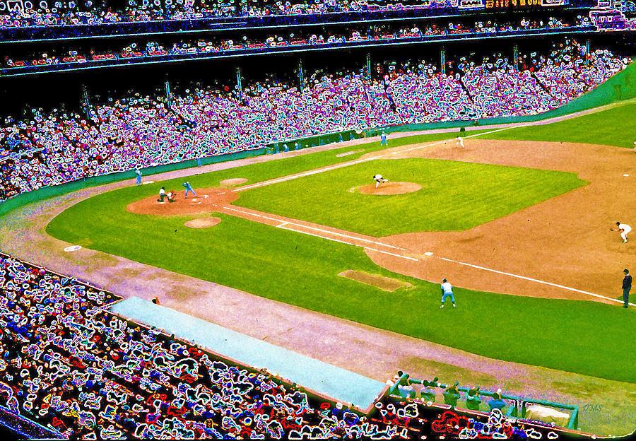 Red Sox Digital Art - Fenway Frenzy  by David Schneider