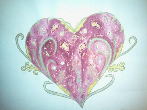 Pink Painting - Fertile Heart by Karen Jensen