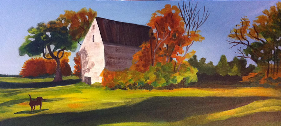 Barn Painting - Fetch by Jane Croteau