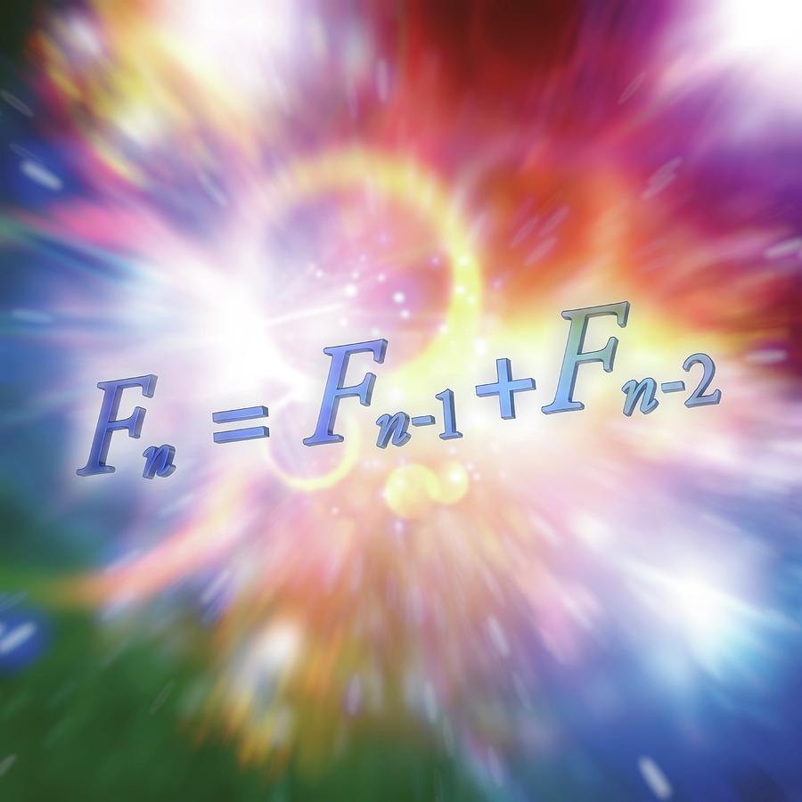 Fibonacci Sequence Photograph - Fibonacci Sequence Equation by Alfred Pasieka