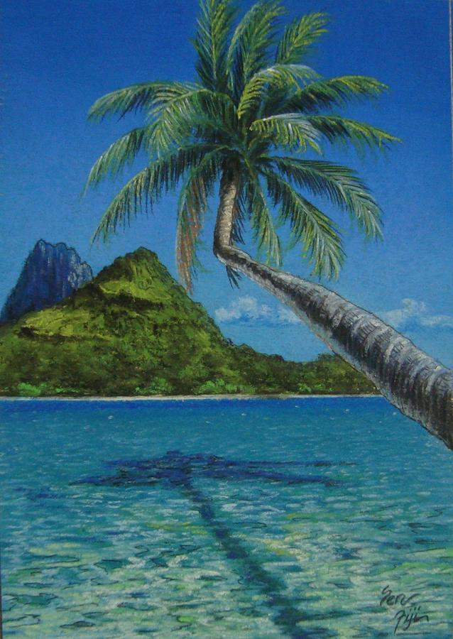 Landscape Painting - Fiji Palm by Pravin  Sen