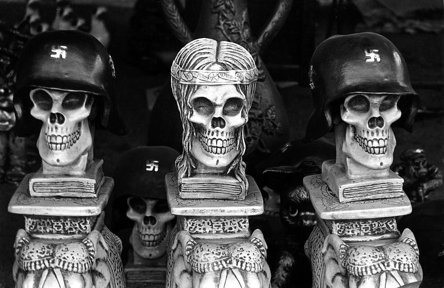Film Noir Fritz Lang Ministry Of Fear 1944 Skeletons Nazi Helmets Nogales Sonora Mexico Photograph by David Lee Guss