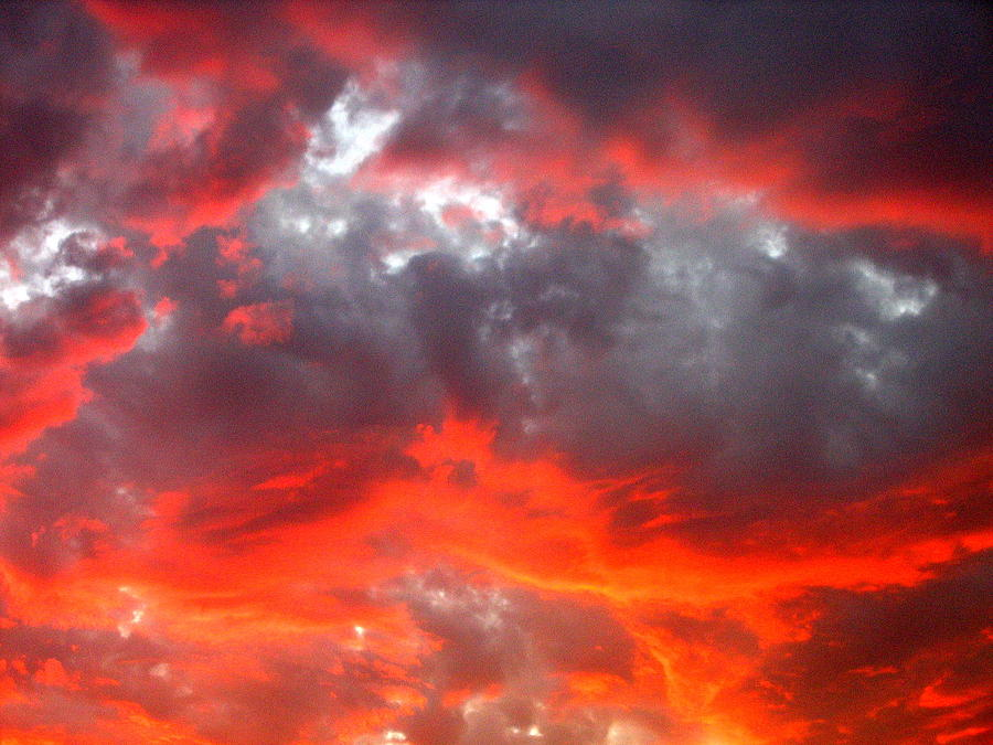 Film Noir Homage Leave Her To Heaven Number 2 Fiery Clouds Casa Grande 2005 Photograph