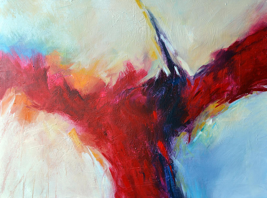 Abstract Painting Painting - Fire And Ice 1 by Filomena Booth