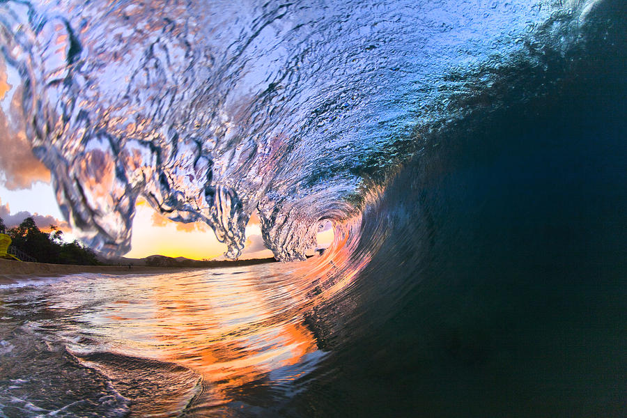 Tube Photograph - Fire And Ice by Sean Davey
