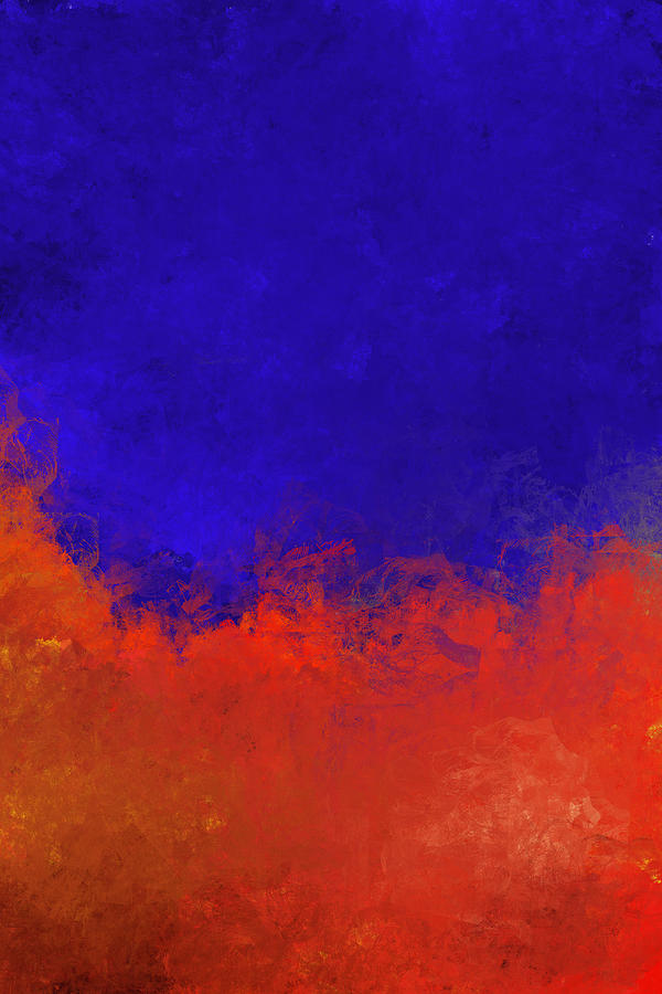 Abstract Expressionism Digital Art - Fire And Water by Jeff Montgomery