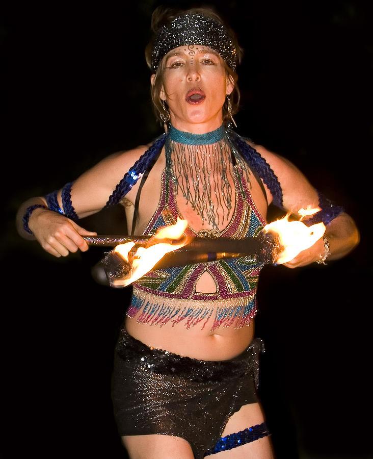 Fire Photograph - Fire Dance by Don Ewing