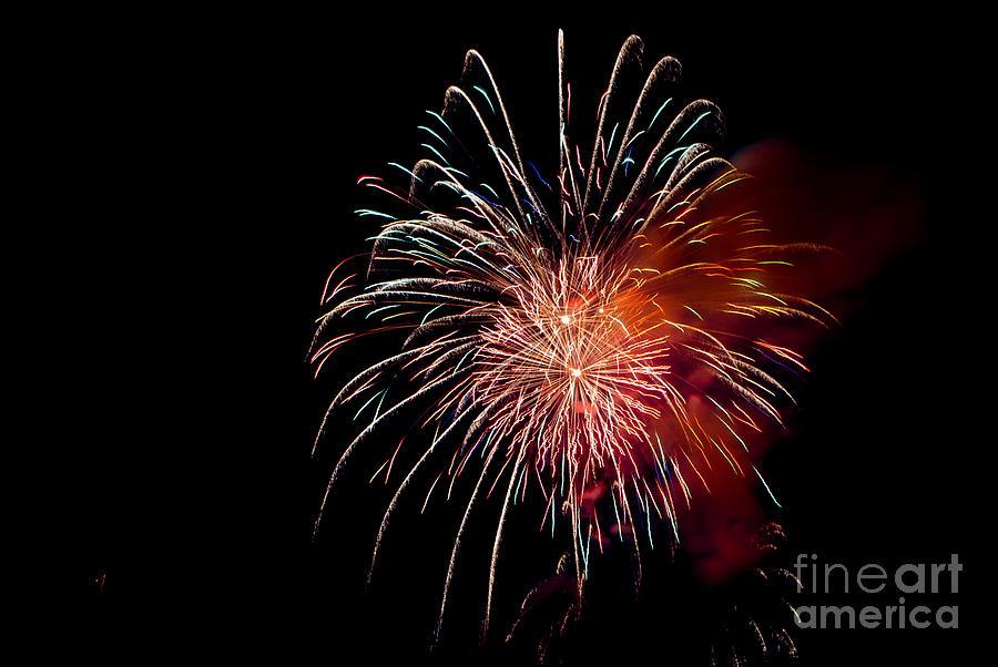 Fireworks Photograph - Fireworks by Grace Grogan
