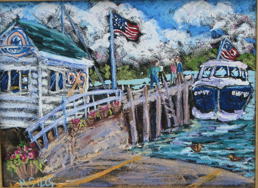 Fish Creek Painting - Fish Creek Boat Launch by Madonna Siles