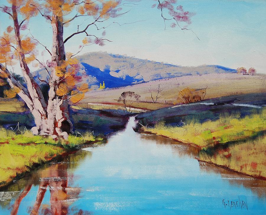 River Painting - Fish River tarana by Graham Gercken
