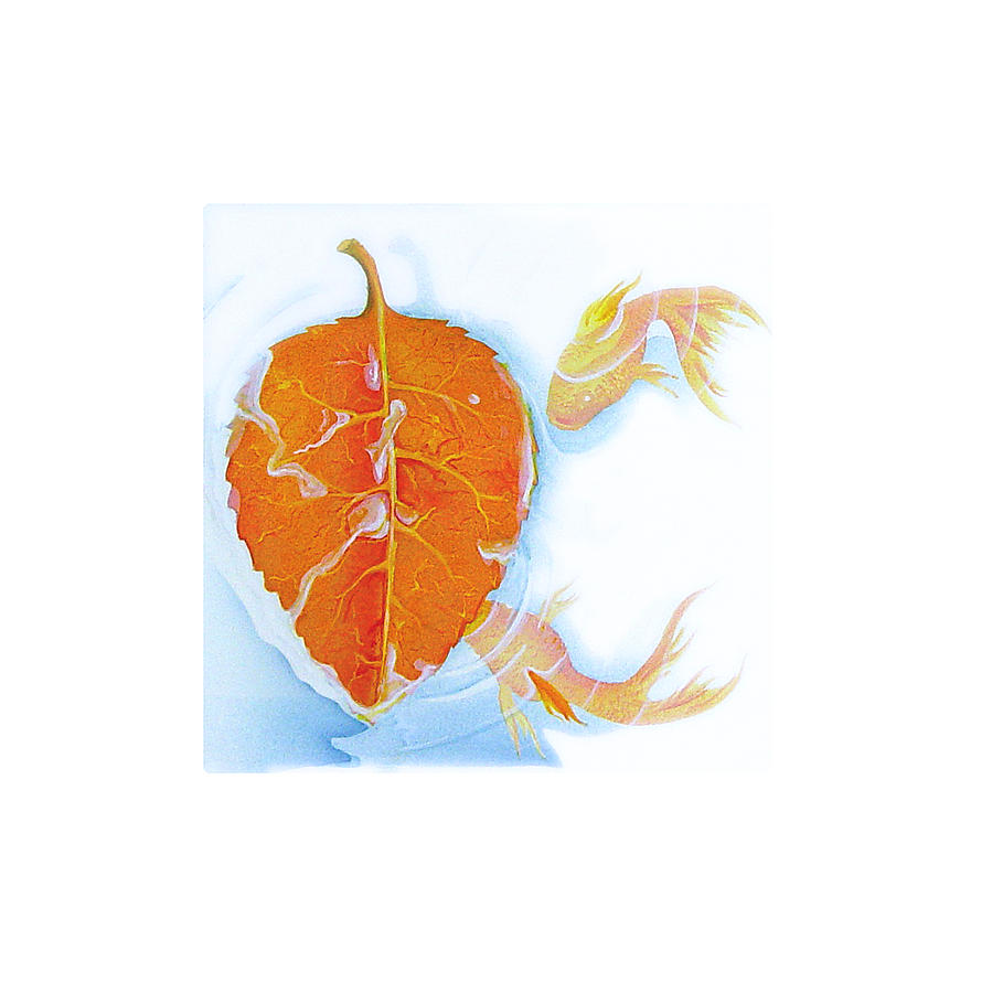 Fish Painting - Fishsalad 5 by Laura Dozor