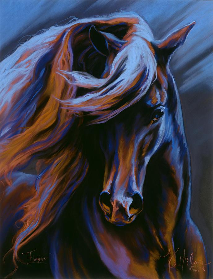 Fantasy Horse Pastel - Flamenco by Kim McElroy