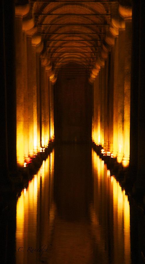 Cistern Photograph - Flaming Passage by Cheri Randolph