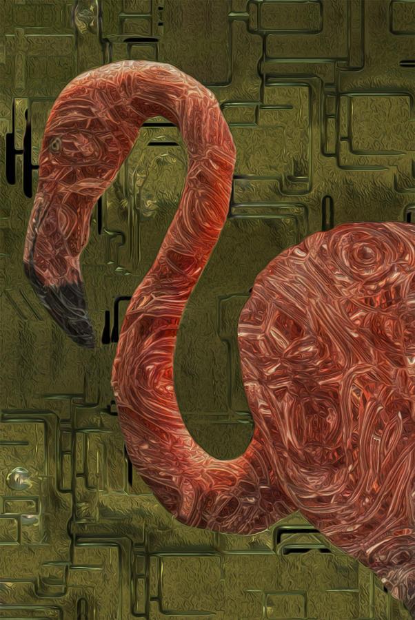 Flamingos Painting - Flamingo by Jack Zulli