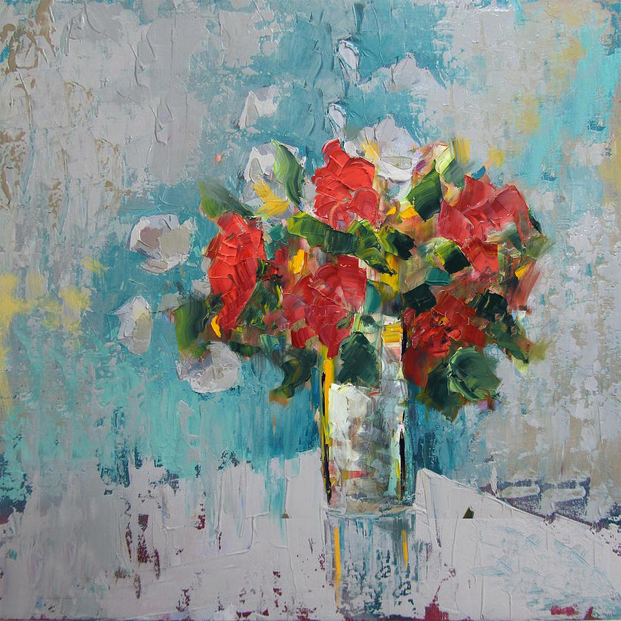 Flower Painting - Floral 13 by Mahnoor Shah