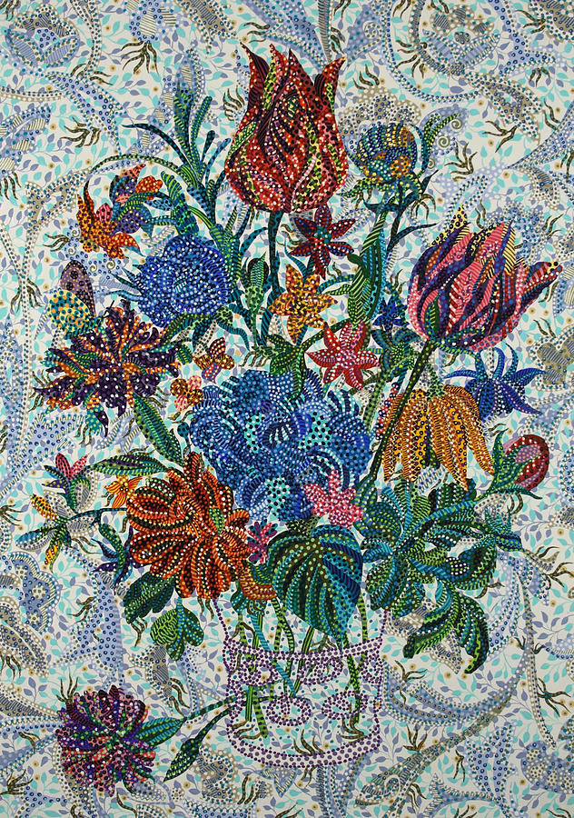 Floral Painting - Floral Arrangement by Erika Pochybova