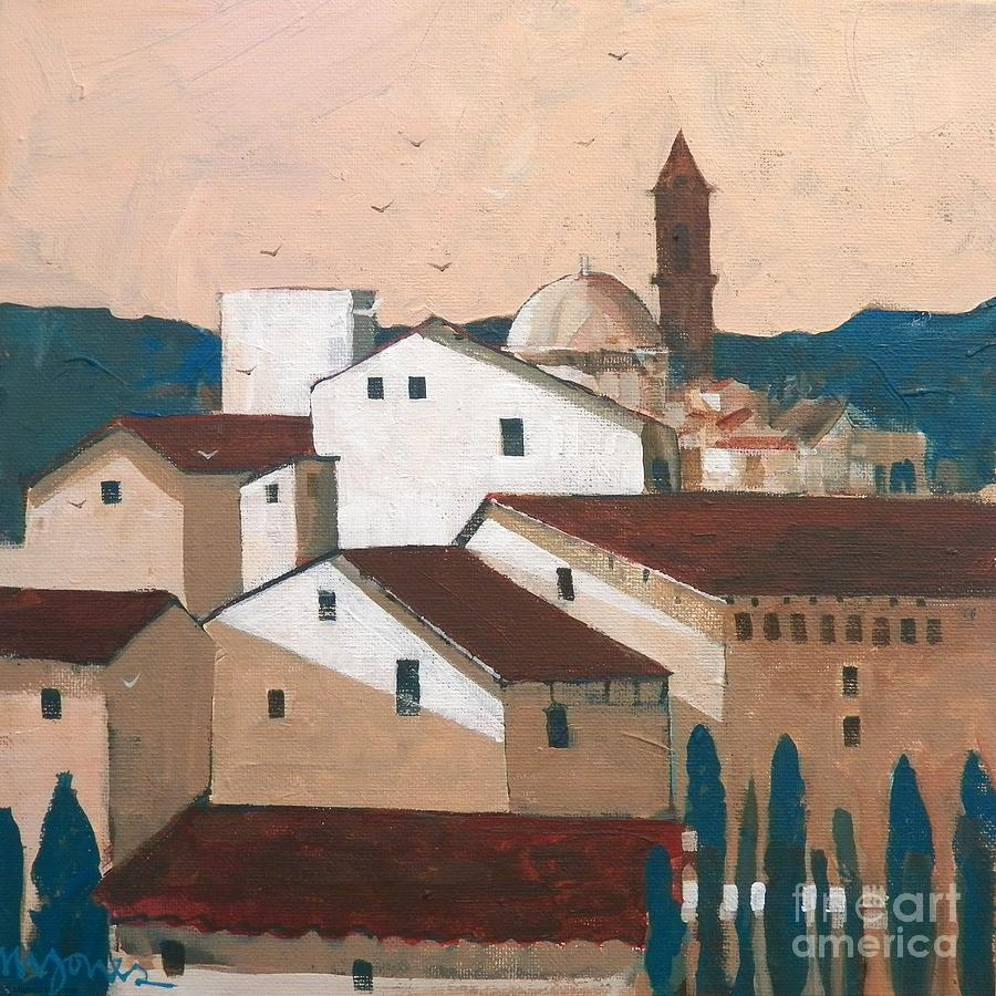 Florence Painting - Florence Rooftops by Micheal Jones