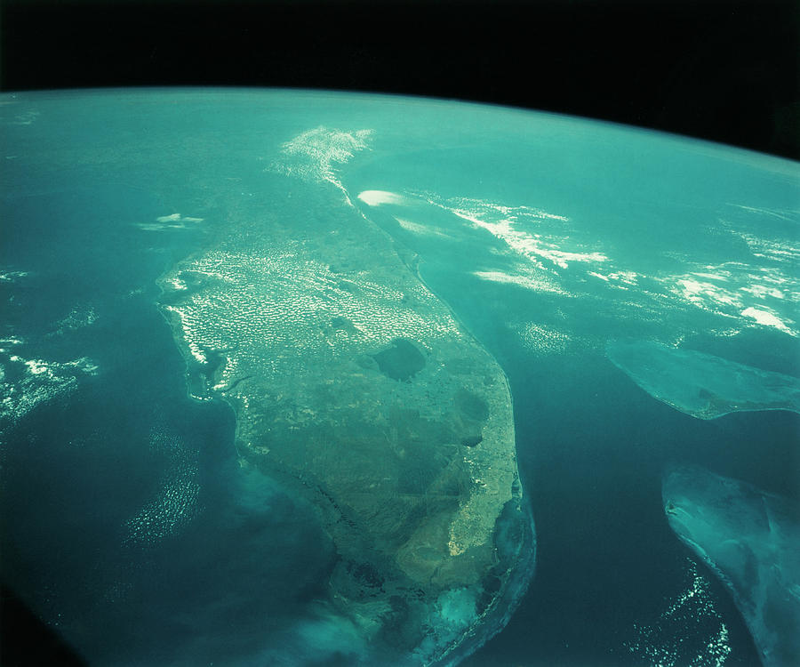 Florida Photograph - Florida From Space by Nasa/science Photo Library