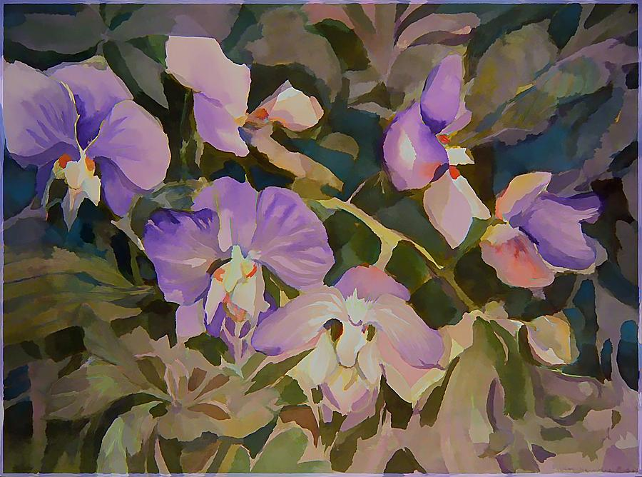 Flower Painting - Florida Orchids by Mindy Newman