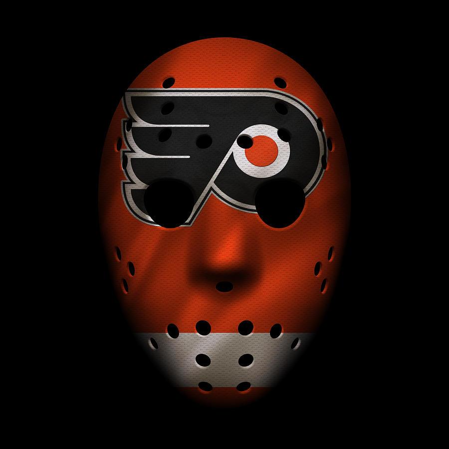Flyers Photograph - Flyers Jersey Mask 1 by Joe Hamilton
