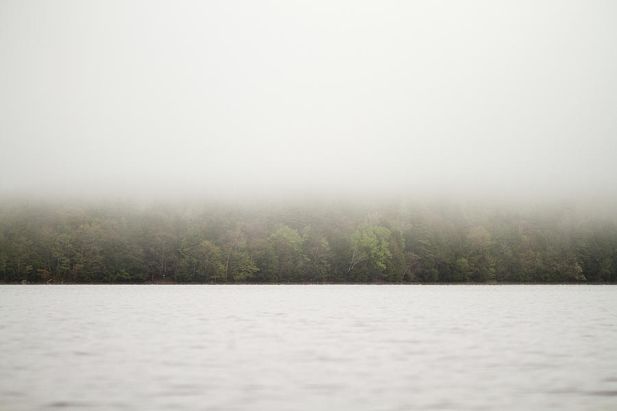 Fog Blankets A Lake In The Maine Woods Photograph by Chris Bennett