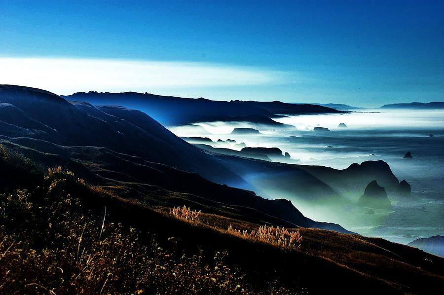 Ca Coast Photograph - Fog Rising by Helen Carson