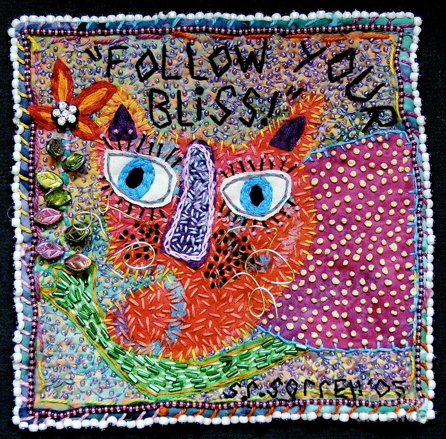Fiber Tapestry - Textile - Follow Your Bliss by Susan Sorrell