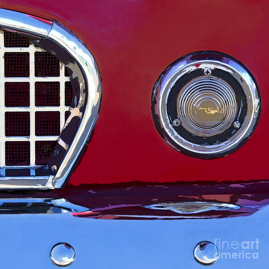 Car Photograph - Ford Thunderbird by Elena Nosyreva