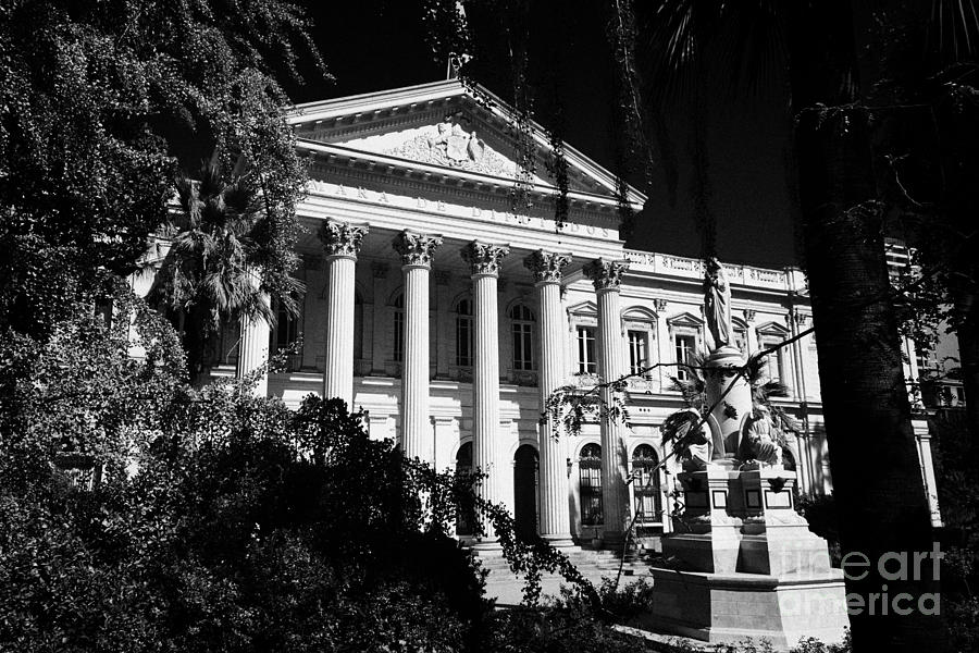 Former Photograph - former national congress building Santiago Chile by Joe Fox