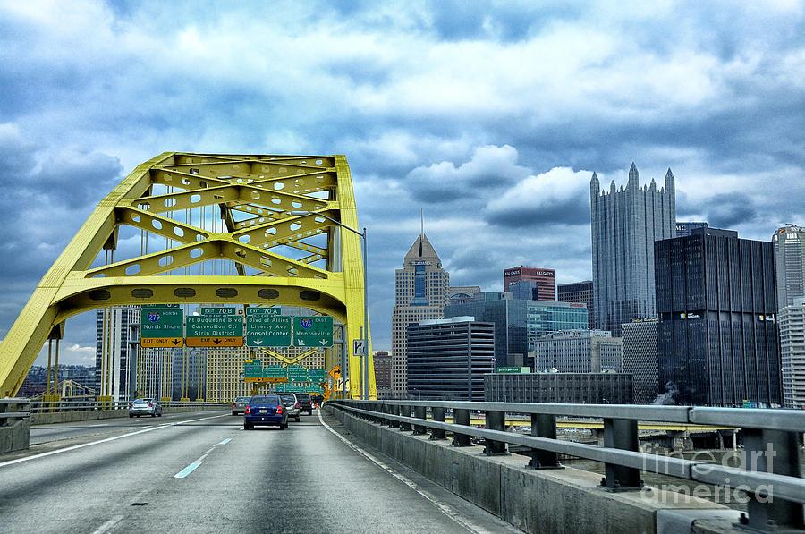 Bridge Photograph - Fort Pitt Bridge And Downtown Pittsburgh by Thomas R Fletcher