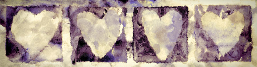 Four Photograph - Four Hearts by Carol Leigh