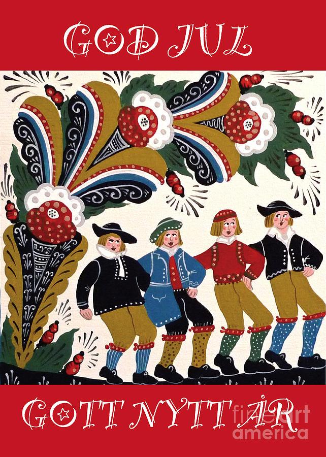 Four Men Dancing Mixed Media by Leif Sodergren
