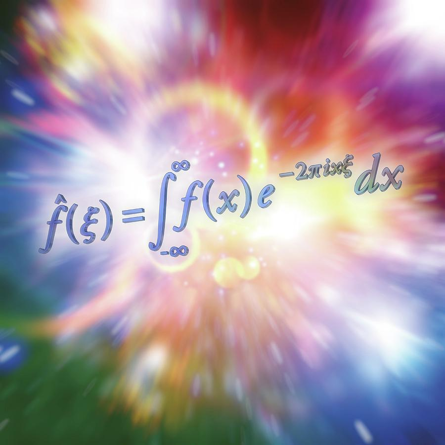 Equation Photograph - Fourier Transform by Alfred Pasieka