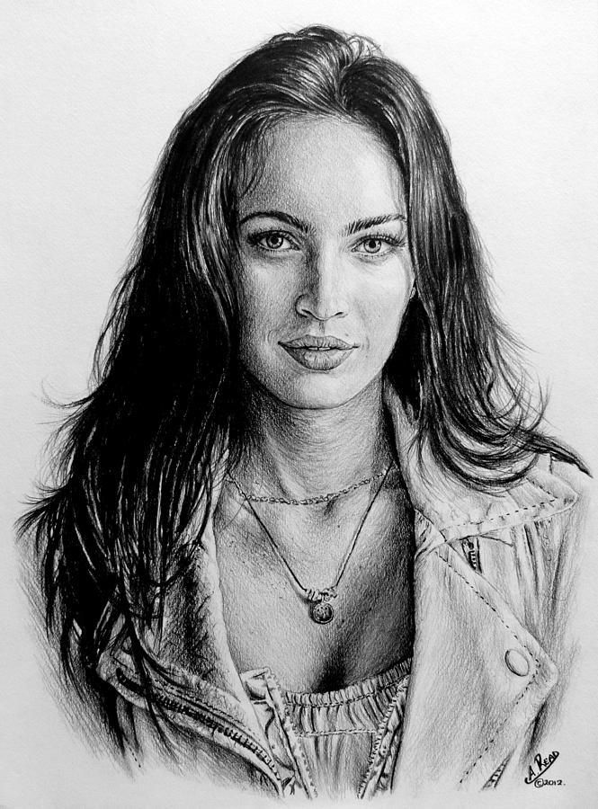 Megan Fox Painting - Foxy by Andrew Read