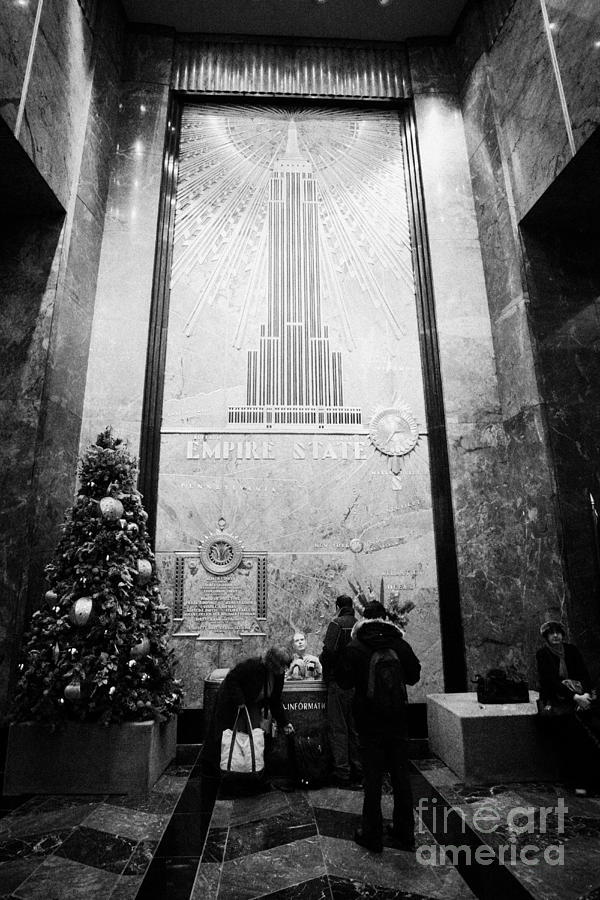 Usa Photograph - Foyer Of The Empire State Building New York City Usa by Joe Fox
