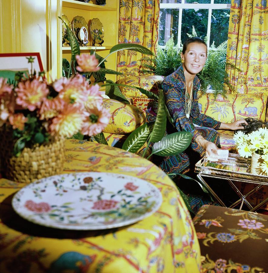 Accessories Photograph - Francoise De La Renta At Home by Horst P. Horst