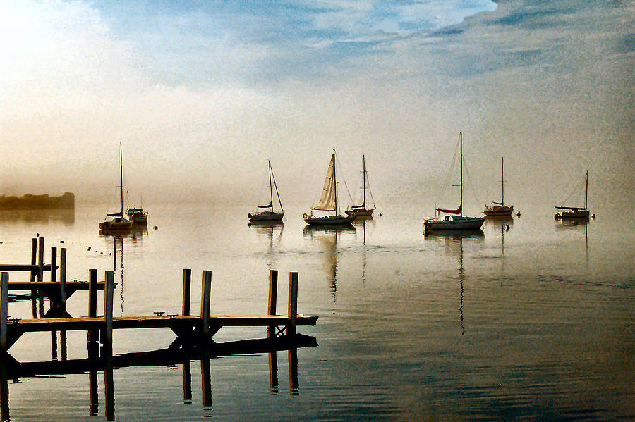 Frankfort Photograph - Frankfort Morning Mist by James Gordon Patterson
